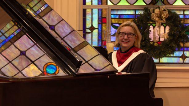 Margaret Downs at piano