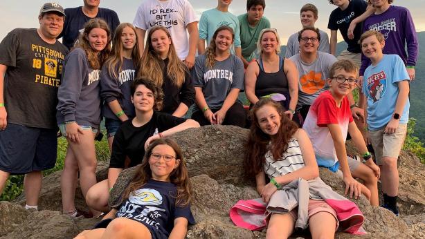 Youth group on a hike